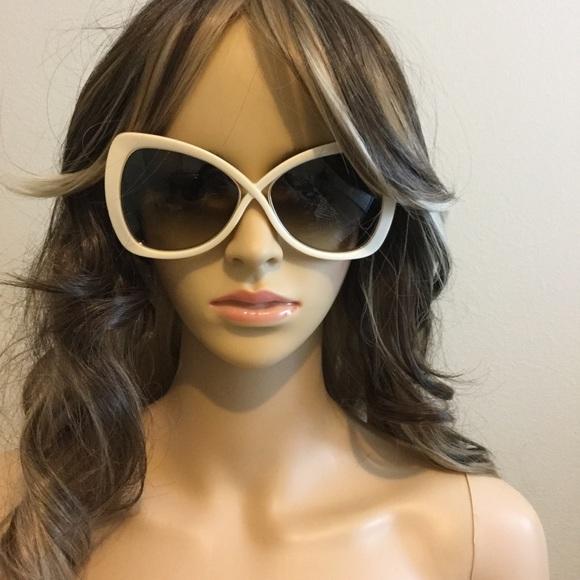 9e32a2fc2942c Tom Ford Cream Colored Jade Sunglasses